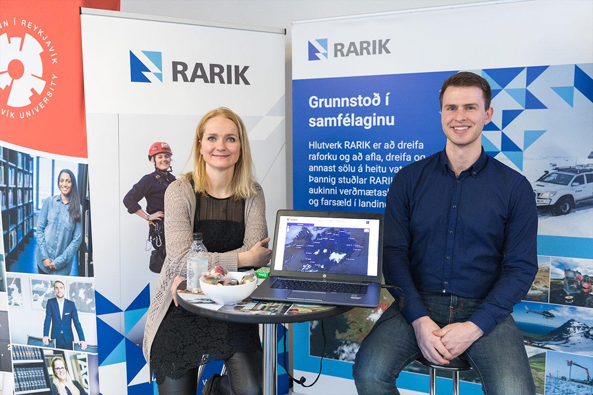 Starfsmenn RARIK: Kristín Inga og Jón Atli