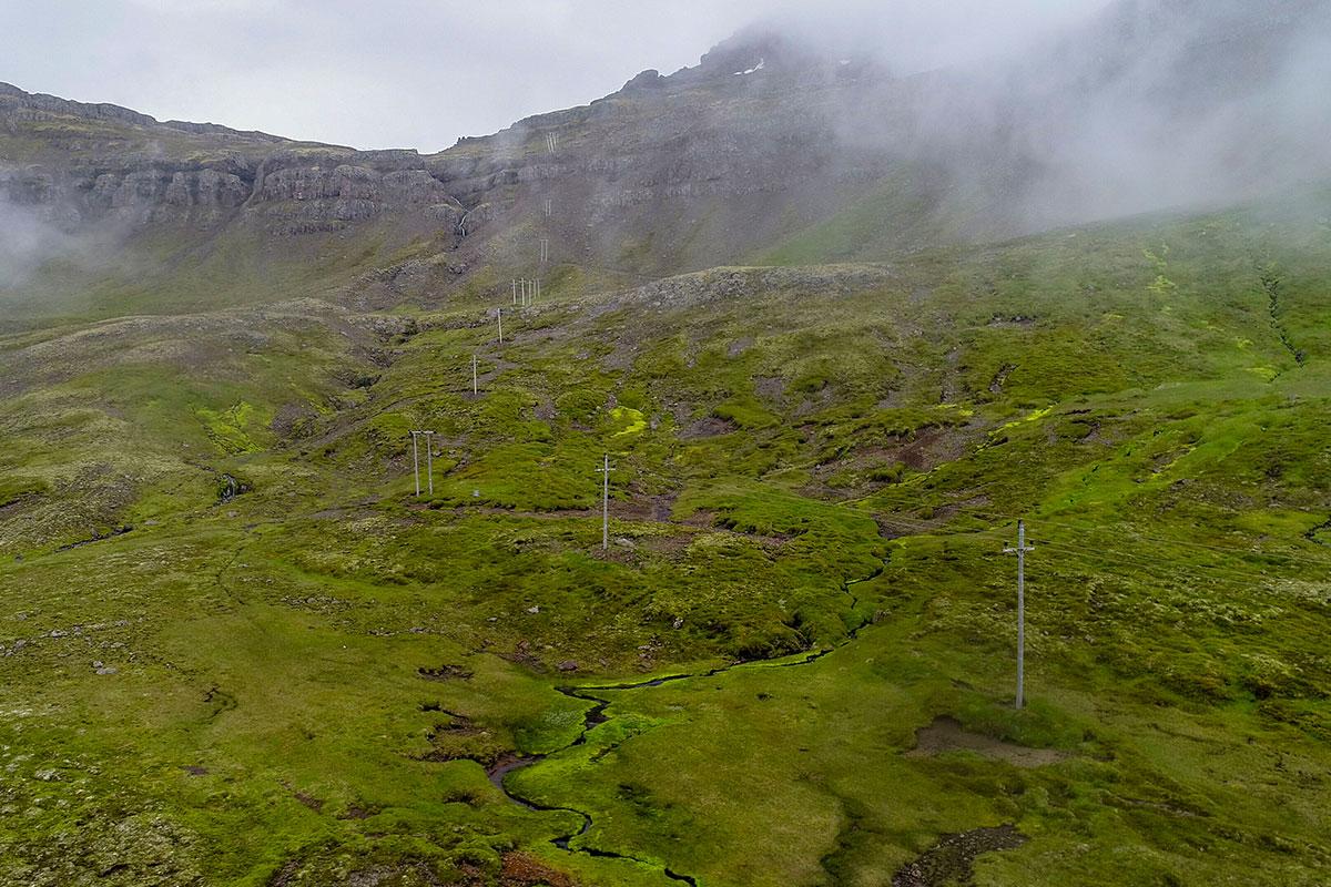 Loftlínan um Fossaskarð verður aflögð